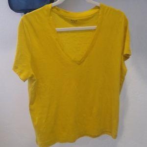 Madewell tee-shirt color mustard